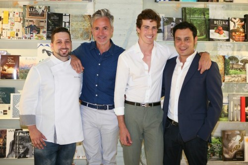 Chef Pedro Salillas, Jaime Beriestain, Oriol Elcacho y Josep Borràs